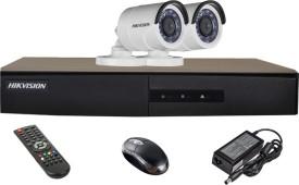 Hikvision DS-7204HGHI-E1 4-Channel Dvr, 2(DS-2CE16C2T-IRP) Bullet Cameras