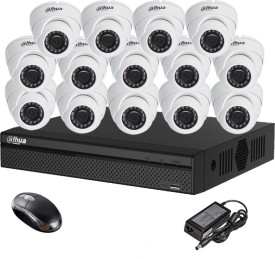 Dahua DH-HCVR4116HS-S2 16CH Dvr, 14(DH-HAC-HDW1000RP-0360B) Dome Camera (With Mouse)