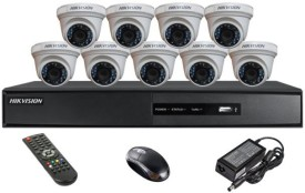Hikvision DS-7216HQHI-F1 16CH DVR, 9(DS-2CE56DOT-IRF) Dome Cameras (With Mouse)