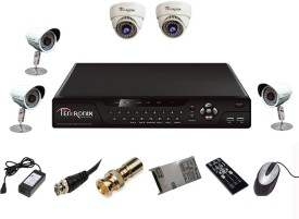 Tentronix T-8AVR-5-B3D210 8-Channel AHD DVR + 2 (1 MP 36 IR Dome) + 3 (1 MP 36 IR Bullet) Cameras