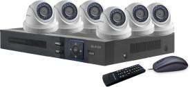 Blaze BGD6B0-HD 8-Channel Dvr, 6(1.3MP) HD Dome CCTV Cameras