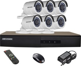 Hikvision DS-7208HGHI-E1 8CH Dvr , 6(DS-2CE16C2T-IRP) Bullet Cameras (with Mouse,Remote,Adapter)