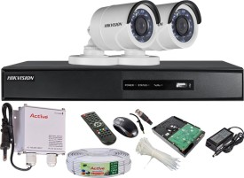 Hikvision DS-7204HGHI-SH 4CH Dvr, 2(DS-2CE16C2T-IRP) Bullet Camera (Mouse, Remote, 500GB HDD,Cable, Bnc 4Pcs, Dc 2Pcs,Power Supply)