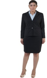 Lee//Marc Single Breasted Solid Women's Suit