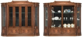 Durian CLIFFORD Engineered Wood Crockery Cabinet(Finish Color - Cherry)