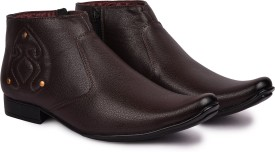 Andrew Scott Men's Brown Synthetic Slip On(Brown)