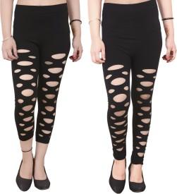 Blinkin Women's Black Leggings(Pack of 2)