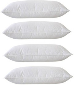 Royal Decor Plain Bed/Sleeping Pillow Pack of 4(White)