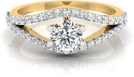 IskiUski Engagement Ring solitaire 14kt Swarovski Crystal Yellow Gold ring(Yellow Gold Plated)