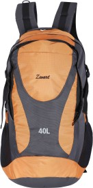 Zwart RUCK-PEAK Rucksack - 40 L(Grey, Orange)