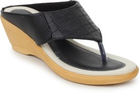 Global India Women Black Wedges