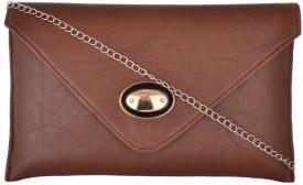 Cuddle Women Brown PU Sling Bag