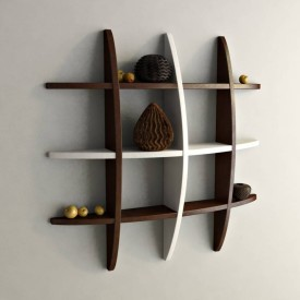 Wooden Art & Toys Na MDF Wall Shelf(Number of Shelves - 1, Brown)