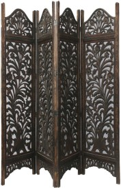 Aarsun Woods Solid Wood Decorative Screen Partition(Free Standing, Finish Color - Brown)