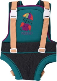 Kidzvilla Baby Carrier cotton with Denim Baby Carrier(Multicolor Front carry facing out)