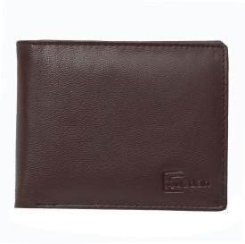 Brown Men Brown Genuine Leather Wallet(5 Card Slots)