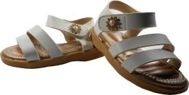 WTdesign Girls Sling Back Strappy Sandals(White)