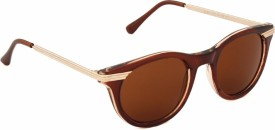 YOLOCLAN YCSG1609 Round Sunglasses(Brown)