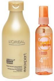 L'Oreal Paris professionel Absolute repair shampoo (250ml) & matrix opti care Split-end serum (100ml)(Set of)