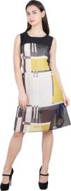G & M Collections Women's A-line Multicolor Dress
