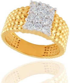 Sangini Designer 18kt Diamond Yellow Gold ring(Yellow Gold Plated)