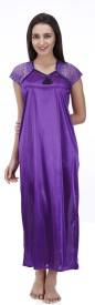 MUASSA Women's Nighty(Purple)