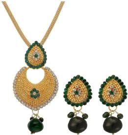 Oleva Zinc Jewel Set(Green)