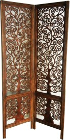 Aarsun Woods Solid Wood Decorative Screen Partition(Free Standing, Finish Color - Natural Brown)