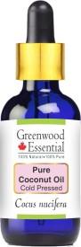 Greenwood essential Pure Coconut Oil (Cocus nucifera) 100%% Natural & Undiluted(100 ml)