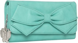 BUTTERFLIES Casual Green Clutch