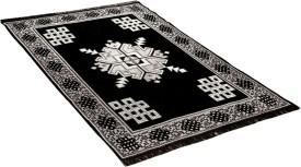 Royal Decor Black Chenille Carpet(150 cm X 210 cm)