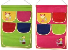 FULLHOUZ Fabric 5 Pocket Hanging Accessories Organizer( )