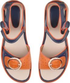 Beanz Girls Buckle Strappy Sandals(Blue)