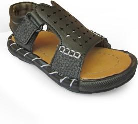 Cutie & Brat Boys Sling Back Strappy Sandals(Black)