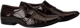 FAUSTO Men's Formal Slip On(Brown)