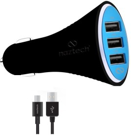 NazTech Turbo T3 7.2A Triple USB Car Charger