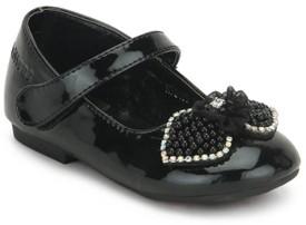 Kittens Girls Velcro Espadrilles(Black)