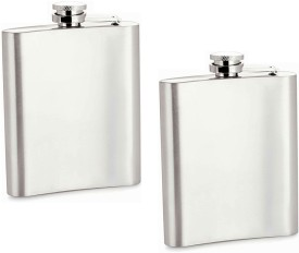 Jeeya Alcohol Vodka Hip Flask Drink Holder 7oz (200 ml) Silk & Shine Stainless steel Hip Flask(200 ml)