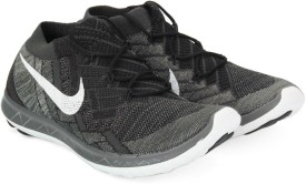 Nike WMNS FREE 3.0 FLYKNIT Running Shoes(Black, White, Grey)