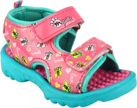 MYAU Boys & Girls Slip-on Sports Sandals(Pink)