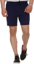 Shaun Solid Men's Dark Blue Basic Shorts