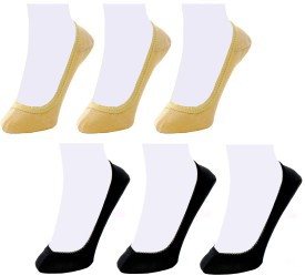 Neska Moda Women's Solid No Show Socks(Pack of 6)