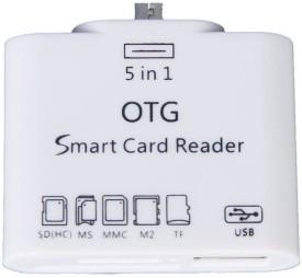 MEZIRE Micro Usb Otg Card Reader-9 Card Reader(White)
