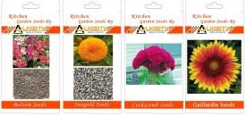 Alkarty Balsam, Sungold, Cockscomb, Gaillardia summer flower seeds pack of 20 each Seed(20 per packet)