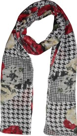 Dream Fashion Printed Poly Cotton Women's Stole, Scarf
