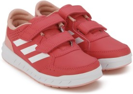Adidas Boys & Girls Velcro Running Shoes(Pink)