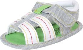 abdc kids Boys Velcro Flats(Grey)