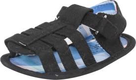 abdc kids Boys Velcro Flats(Black)