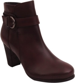 SALT N PEPPER 16-368GRETAWINEWOMENBOOTS Boots(Maroon)
