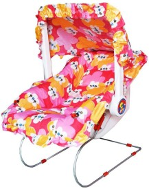 AELVINO ALL PURPOSE RED FLORAL BABY BOUNCER(Red)